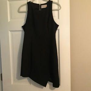 "Black ""Keepsake the Label"" Dress with Slit"